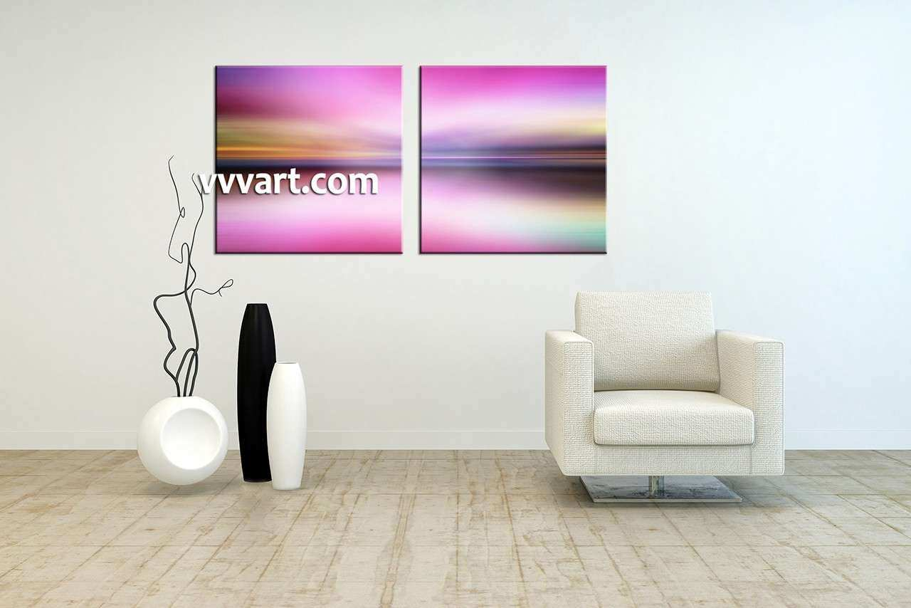 2 Piece Colorful Abstract Canvas