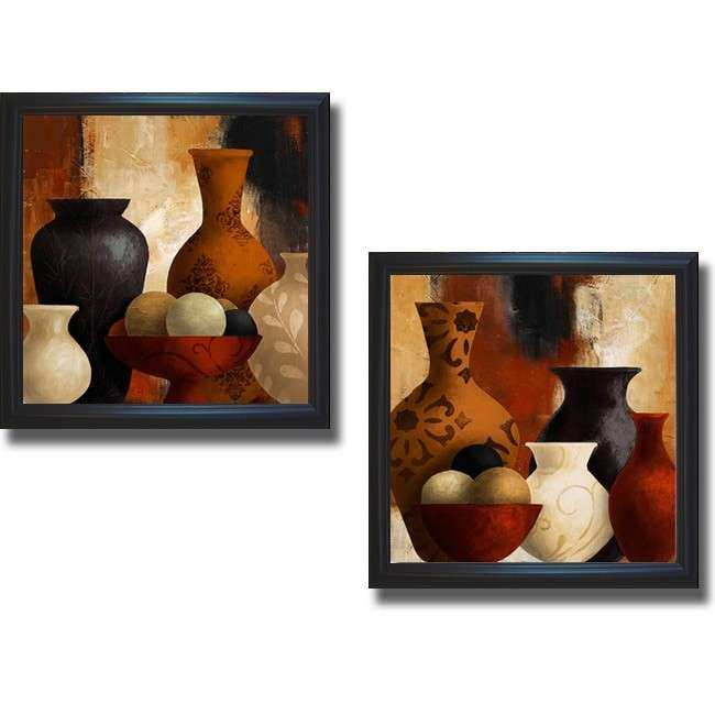 2 Piece Canvas Wall Art Lovely Lanie Loreth Spiced Vessels I and Ii Framed 2 Piece