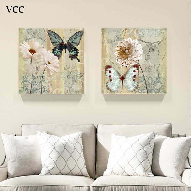 Aliexpress Buy 2 Piece Canvas Art Butterfly Picture