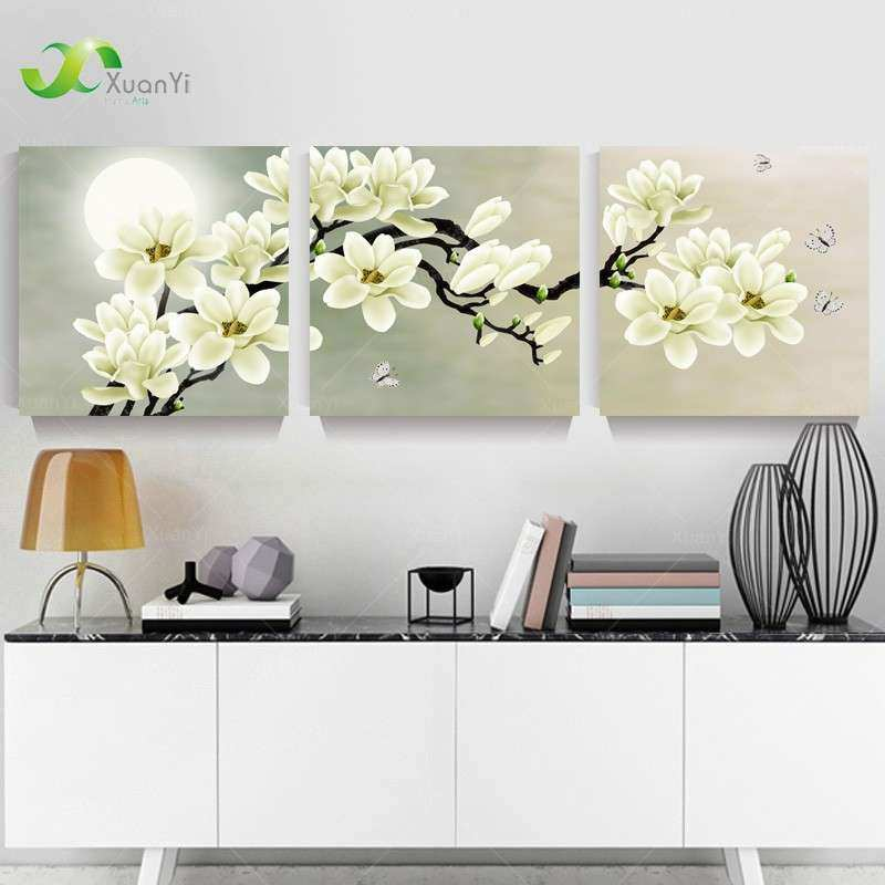 Aliexpress Buy 3 Panel Modern Abstract Flower