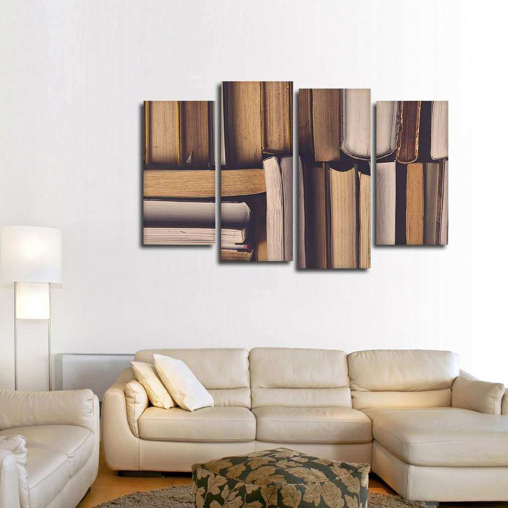 Library Multi Panel Canvas Wall Art