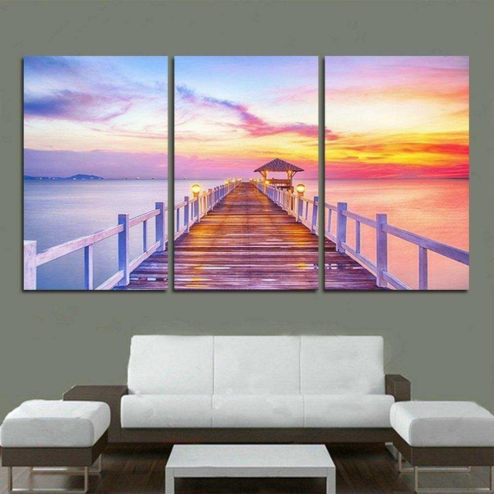 Astonishing Three Piece Canvas Wall Art 85 For Masculine