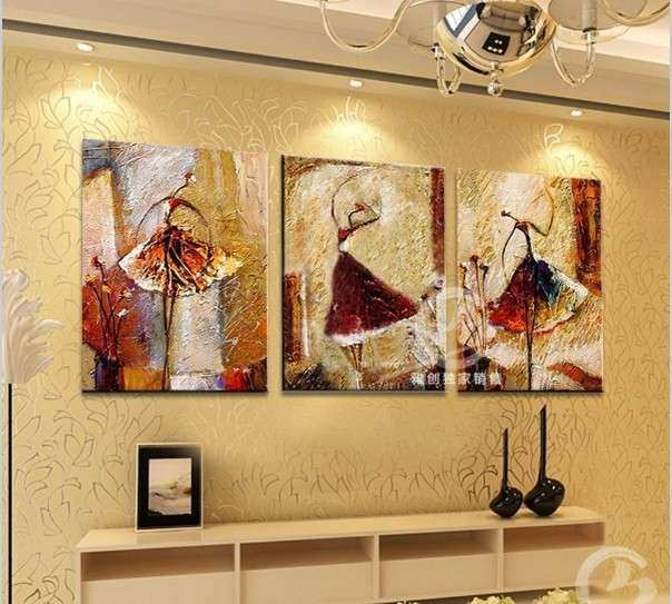 3 piece canvas wall art sets HandPainted pictures For