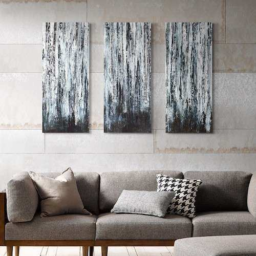 Madison Park 3 piece Birch Forest Canvas Wall Art Set