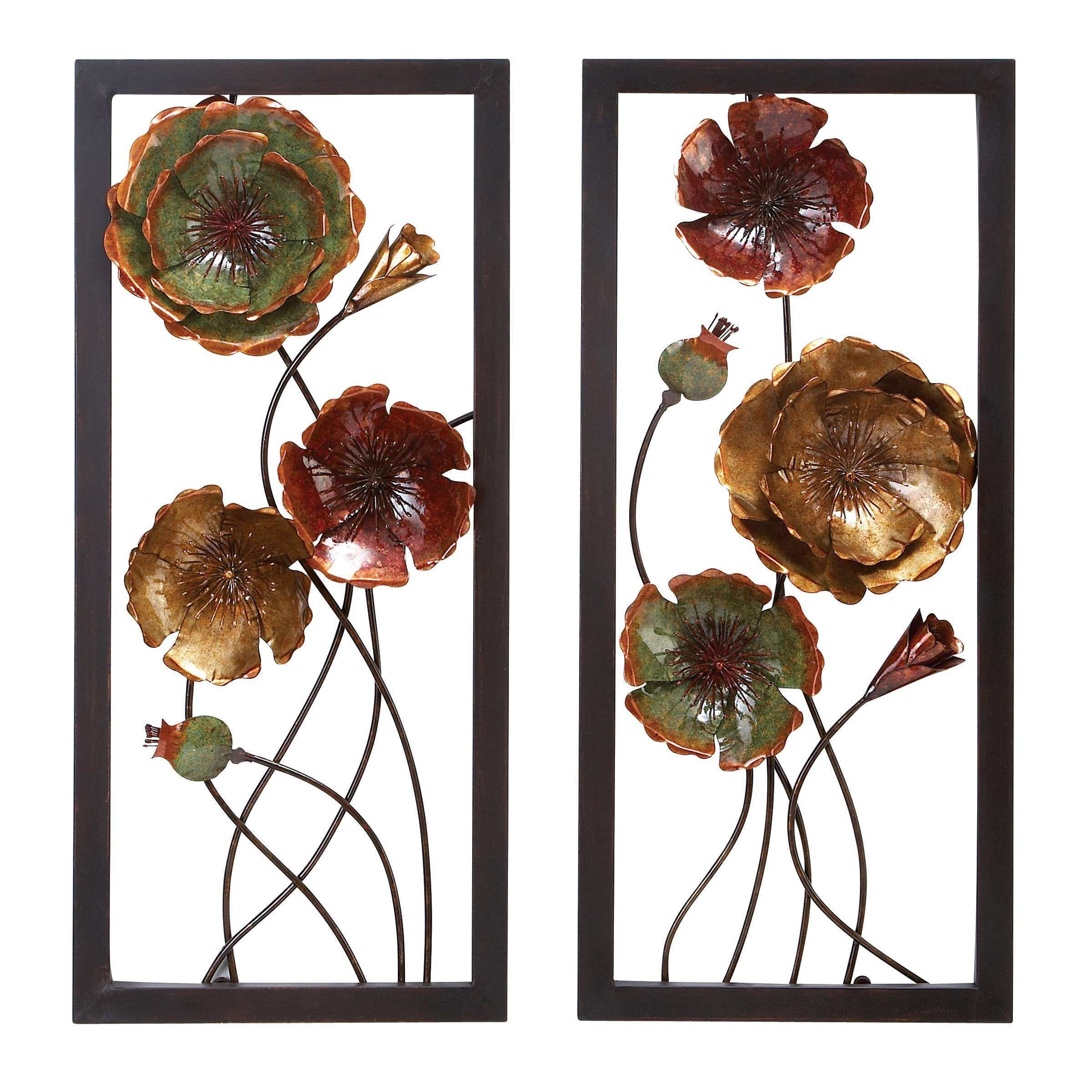 Woodland Imports 2 Piece Metal Wall Décor Set & Reviews