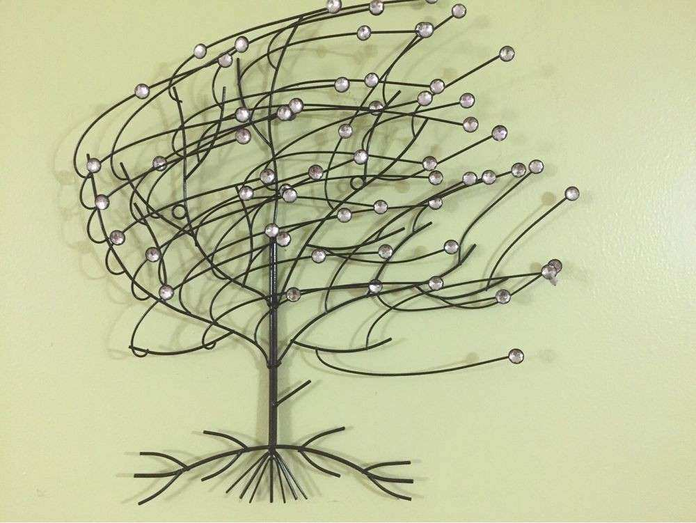 3d Metal Wall Art Sculpture Fresh 3d Jewel Windy Tree Metal Wall Art ...
