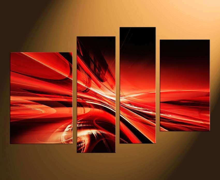 5 Panel Modern USA Big Red WingTeam Wall Art Painting