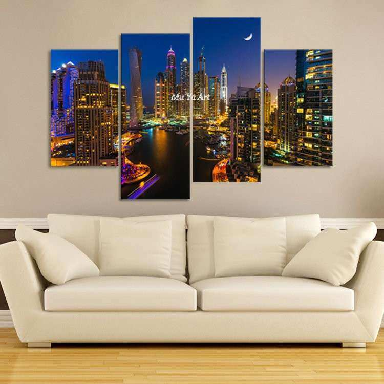 Set 4 Canvas Wall Art Home Design
