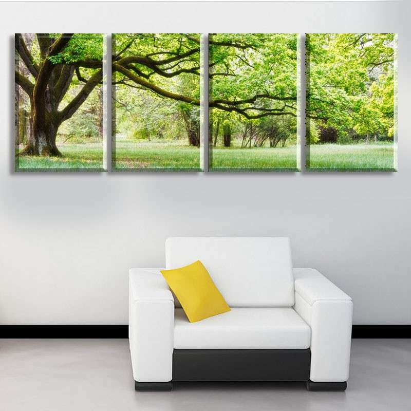 4 piece abstract canvas art tree canvas wall picture