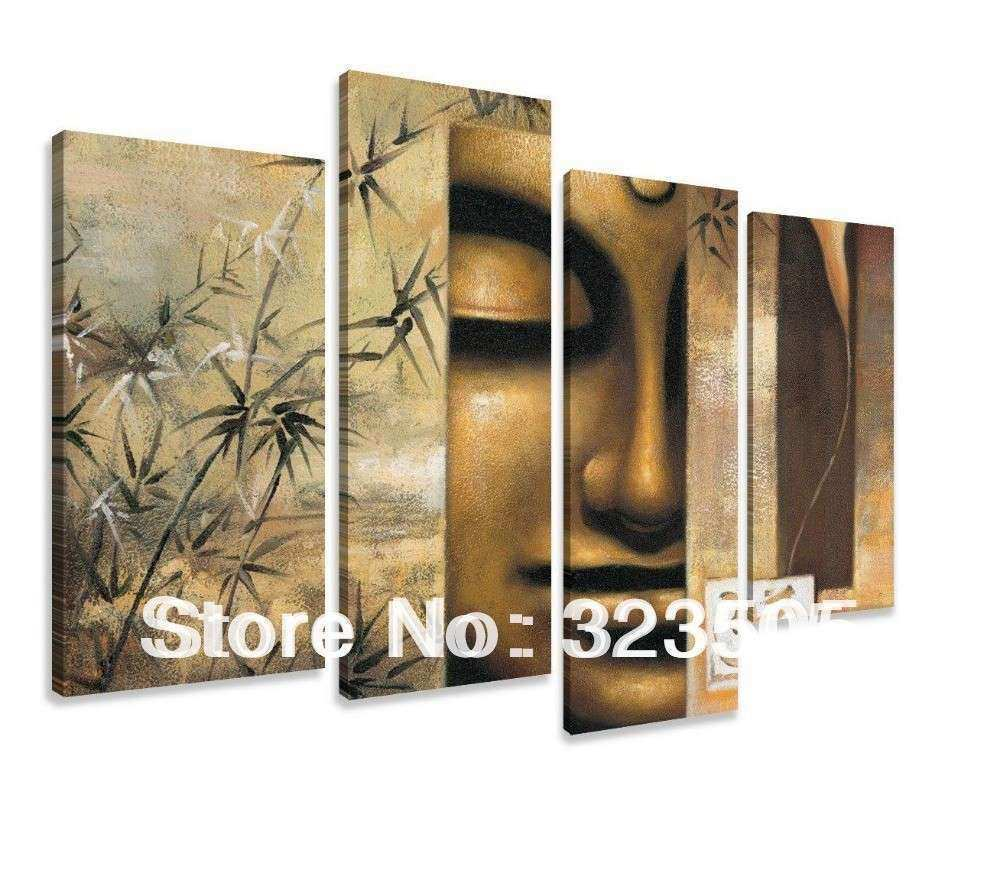 4 piece canvas wall art large Modern abstract wall panel