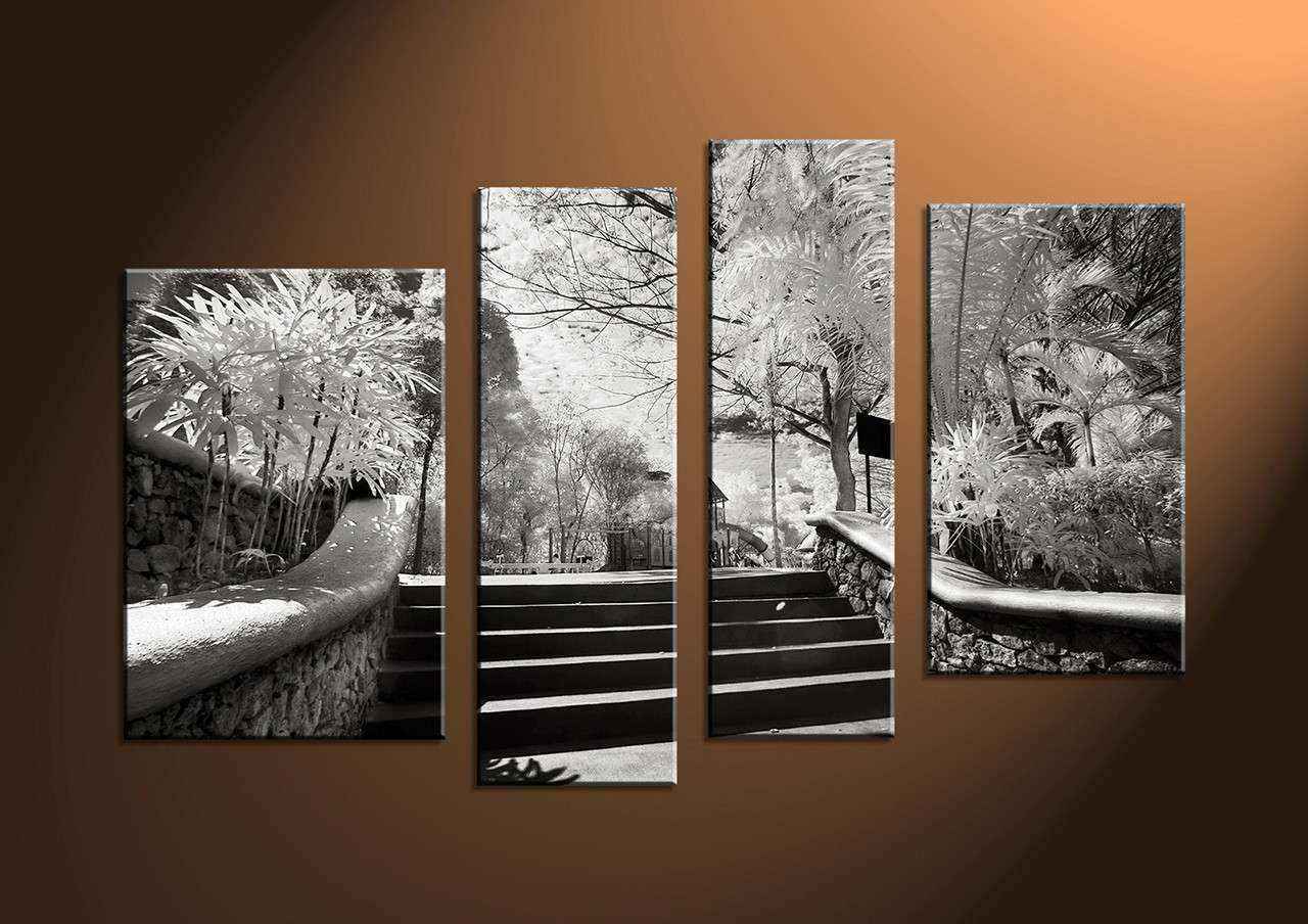4 Piece Canvas Black And White Wall Art