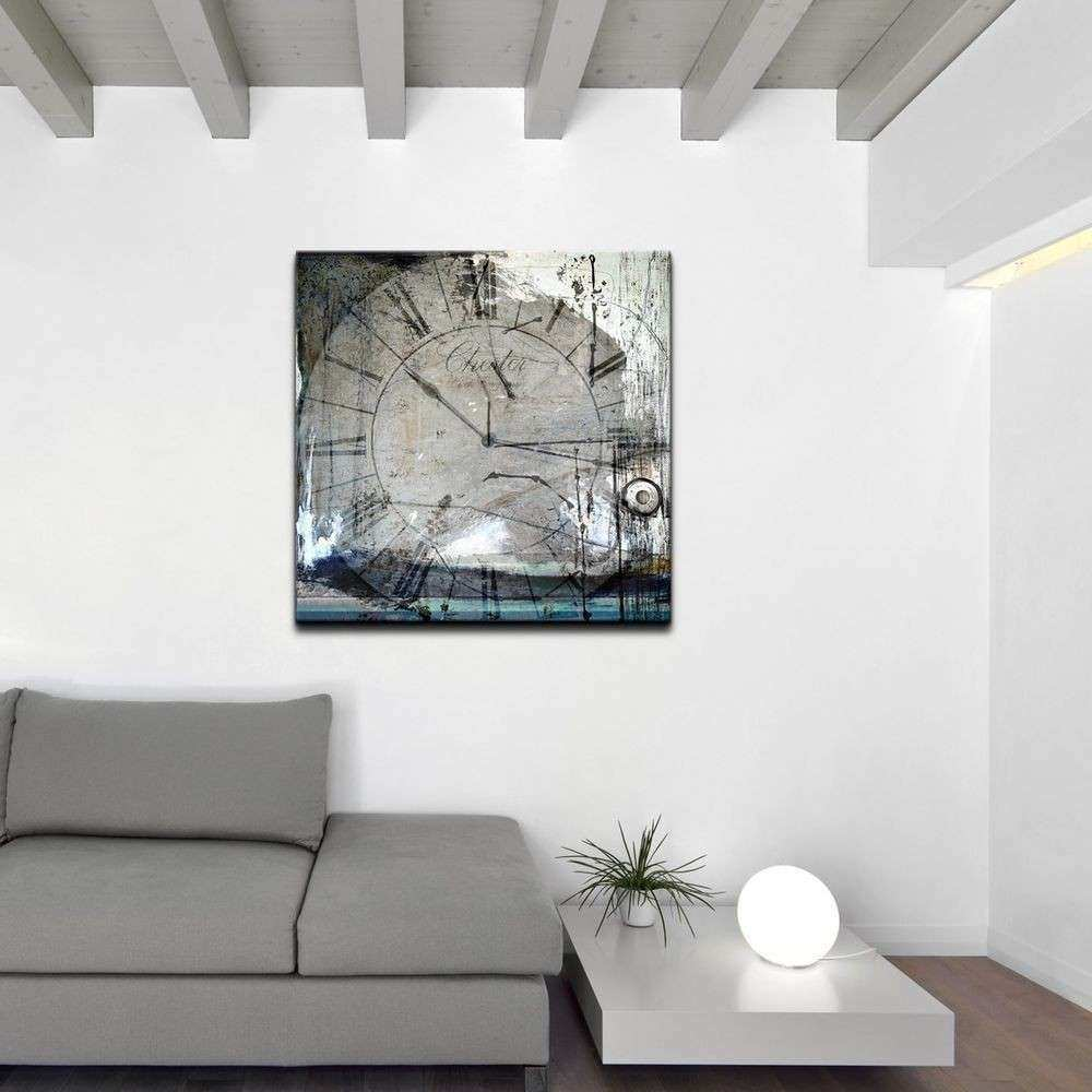 Ready2HangArt Tick Tock Oversized Abstract Canvas Wall