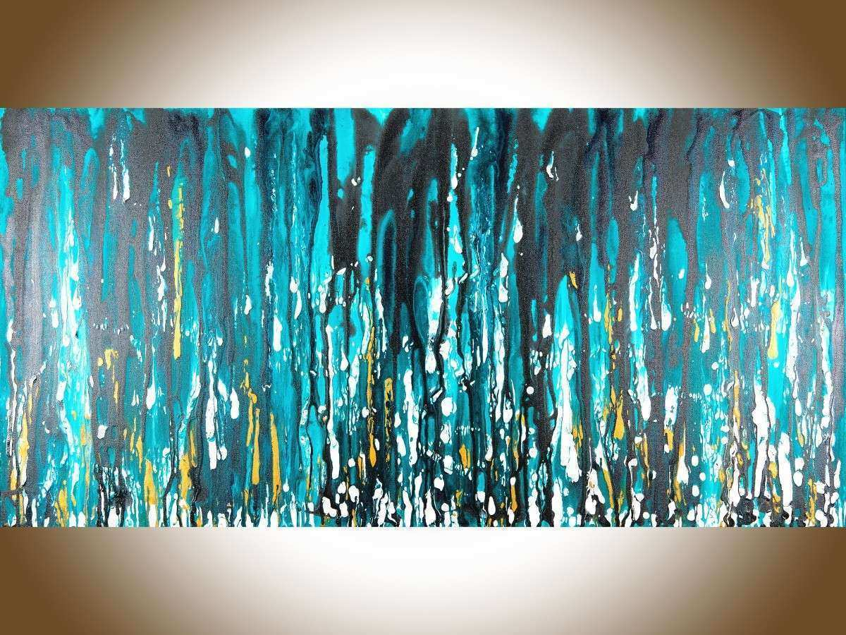 "Meteor Shower by QIQIGallery 48""x24"" stretched canvas"