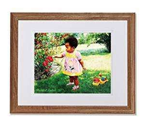 Amazon Fashion Stylish African American Black Girl and Rose Flowers Wall Picture W W Matted