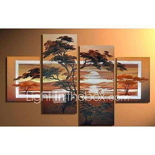 Hand Painted Modern Oil Painting Canvas African Scenery