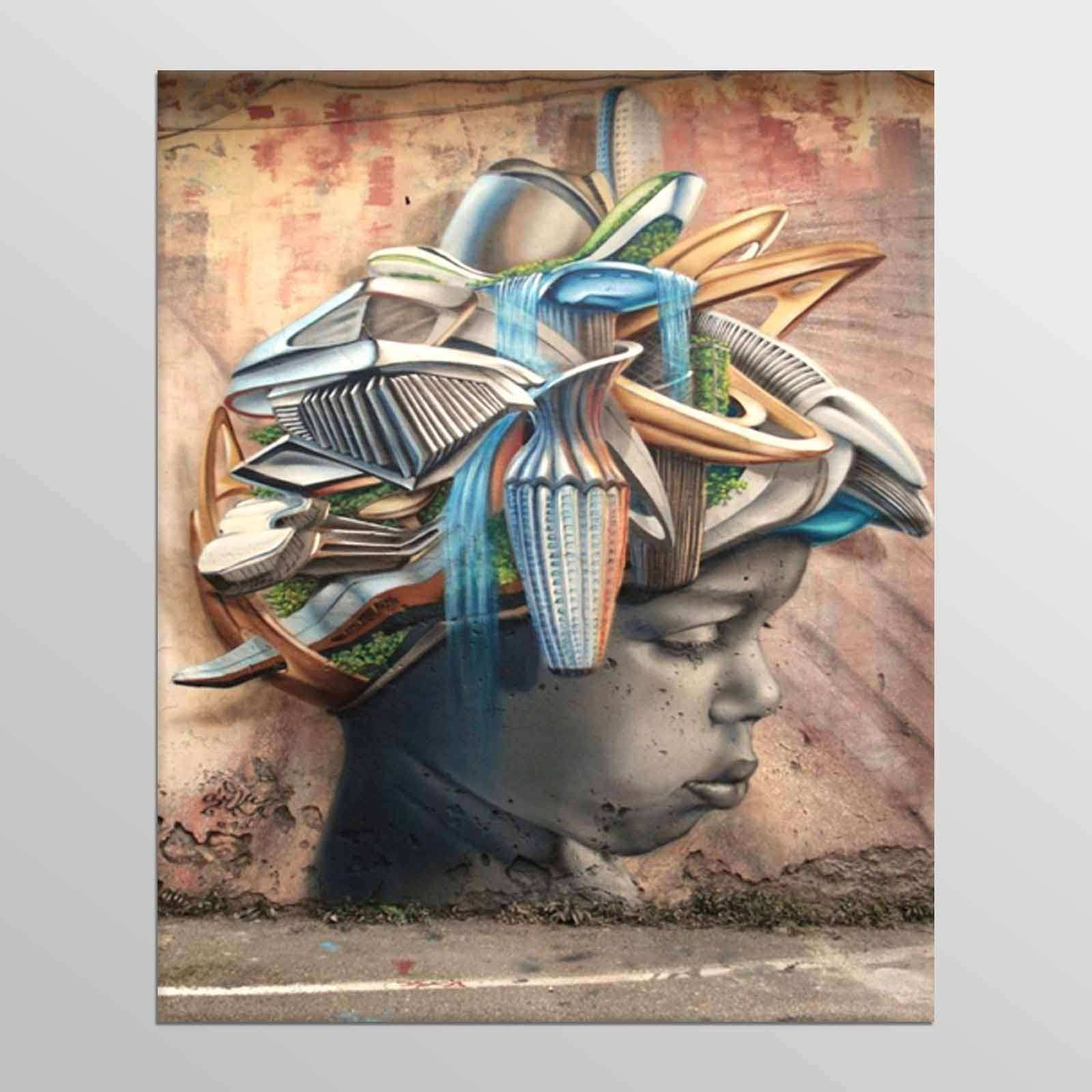 Street Art African New Abstract Canvas Art Cheap Wall