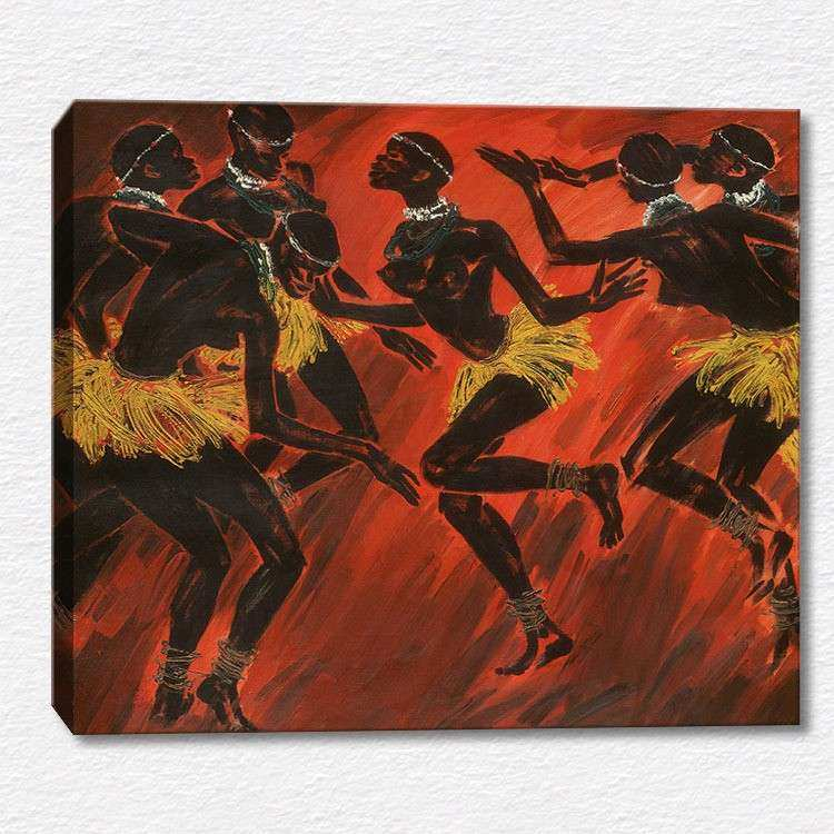 "Abstract art canvas print wall painting ""African style"