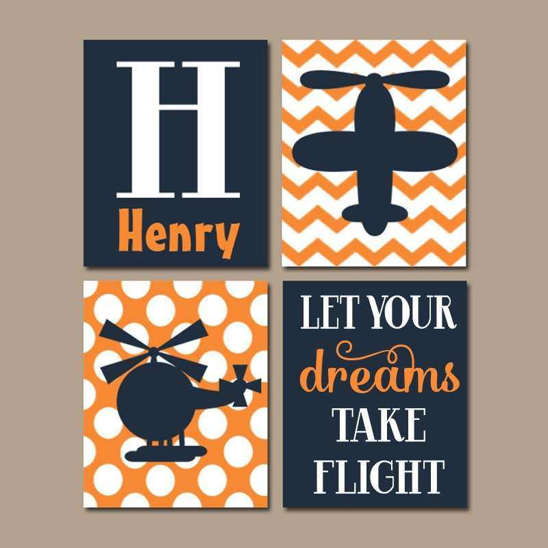 AIRPLANE Wall Art CANVAS or Prints Baby Boy Nursery Artwork