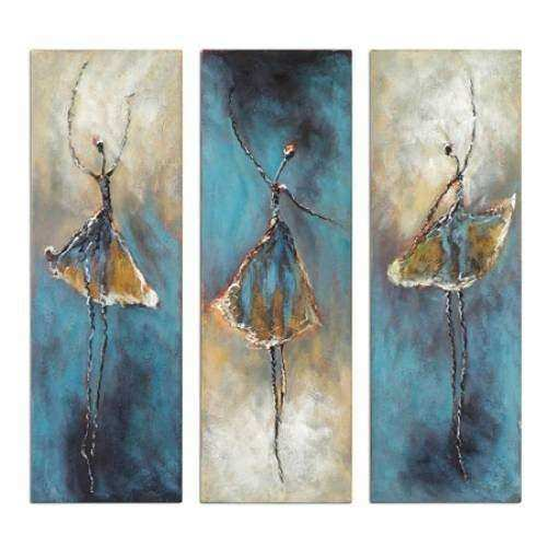 Santin Art Ballerina Paintings on Canvas Stretched and