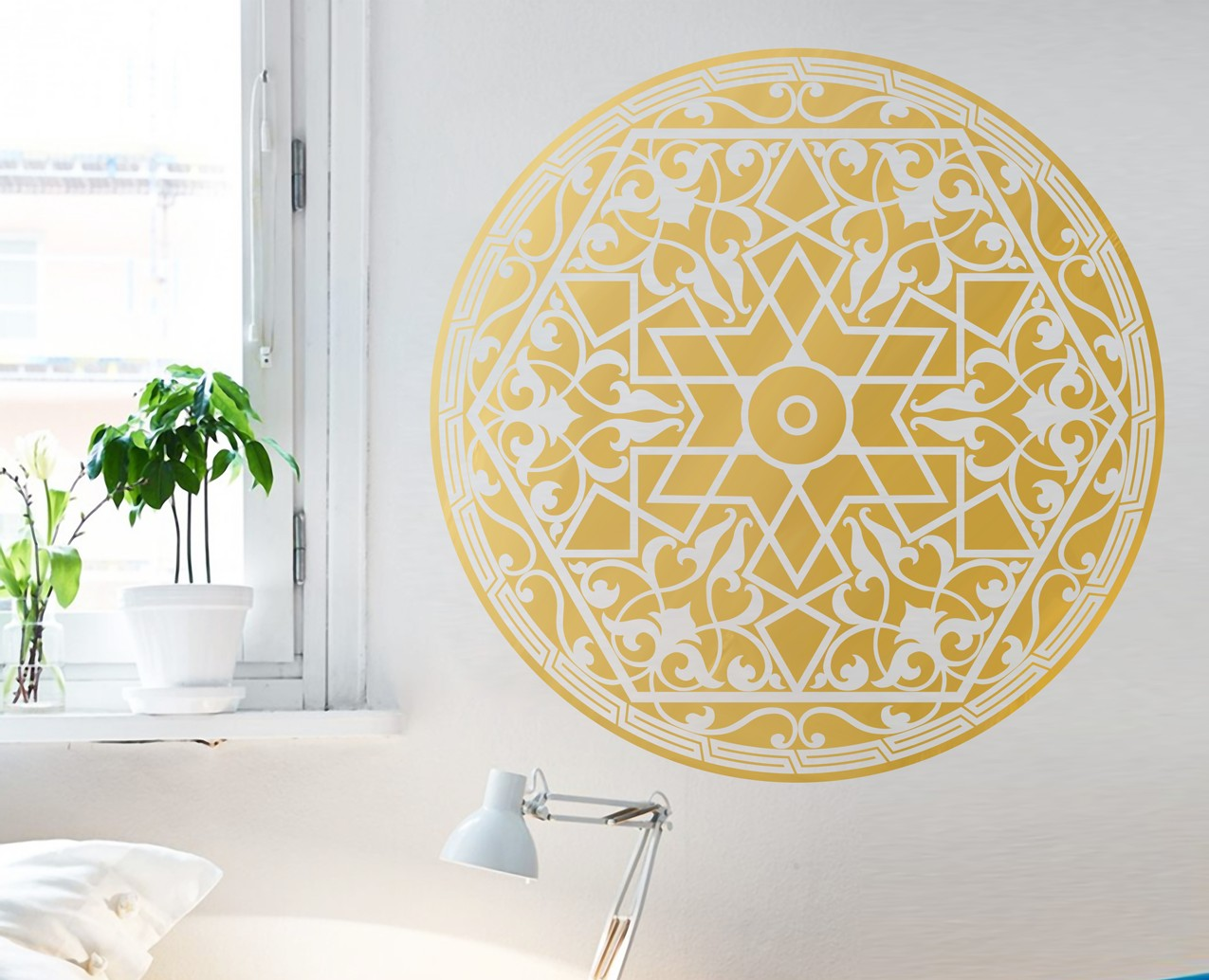 Arabic Wall Art Unique Arabic Pattern – Your Decal Shop | Wall Art Ideas