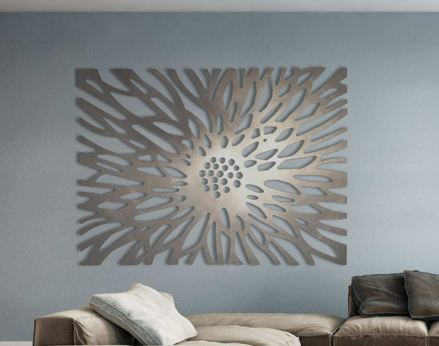 Architectural Wall Decor Luxury Laser Cut Metal Decorative Art Panel Sculpture For Home