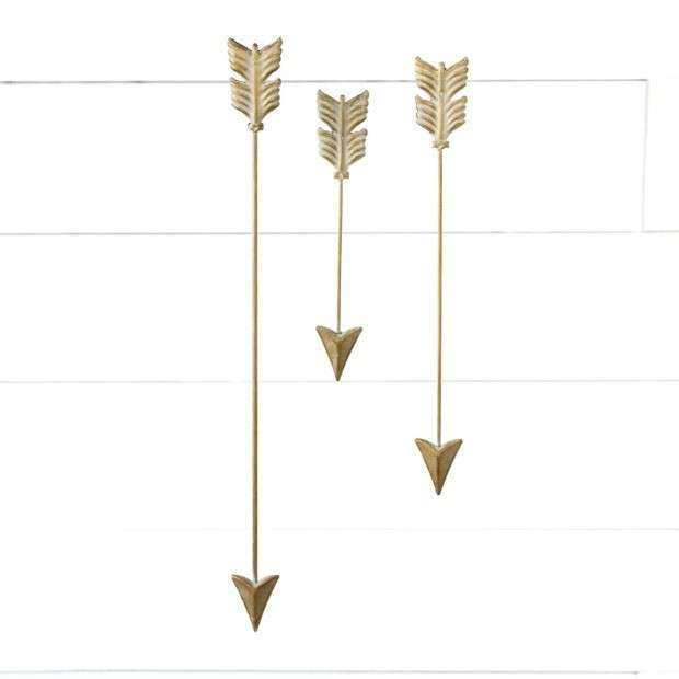 Goldwash Metal Arrow Wall Decor Set of 3