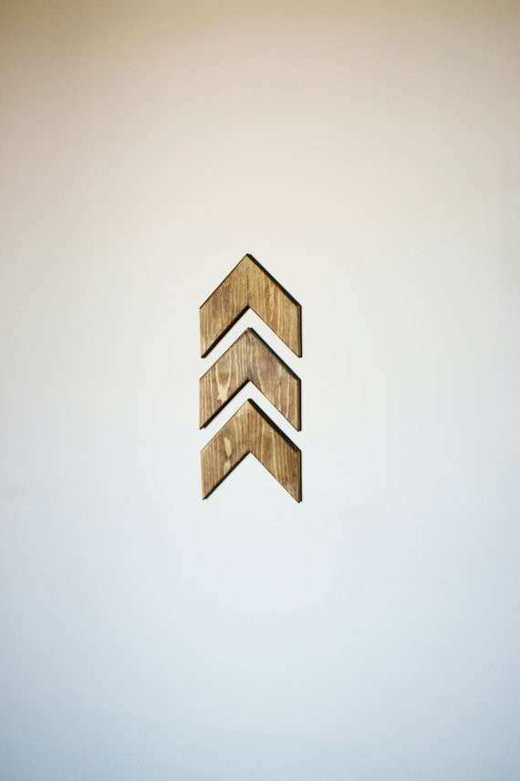 Set of 3 Small Wooden Arrows Arrows Wall Decor Gallery