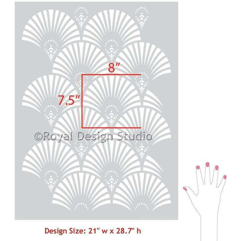 Art Deco Wall Art Lovely Art Deco Wall Border Stencils Art Deco and ...