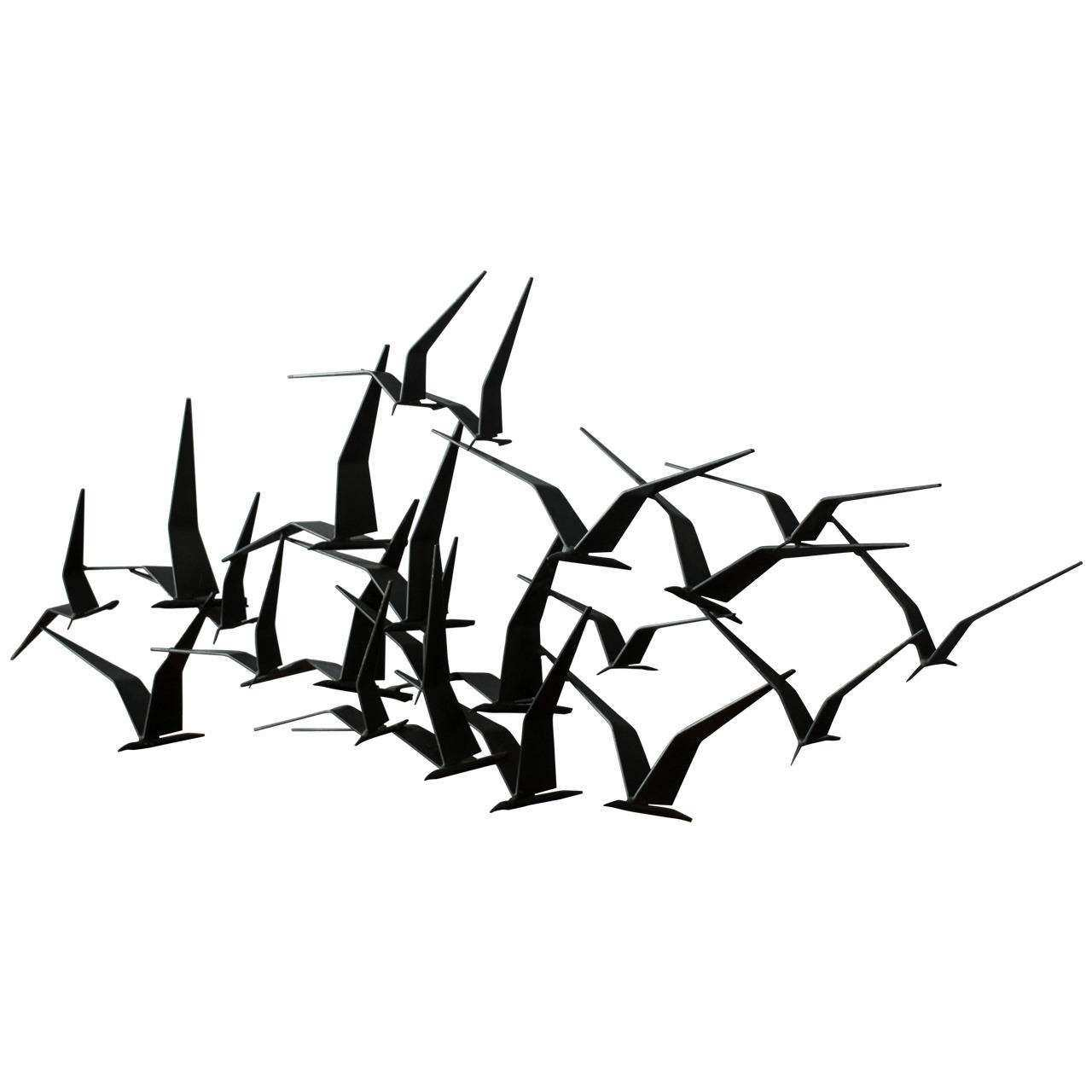 Flying Birds Metal Wall Art Takuice