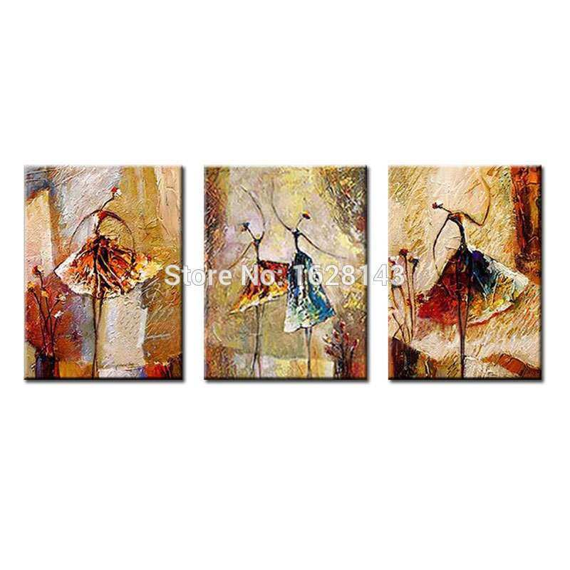 Ballerina Canvas Wall Art Lovely Hand Painted Abstract Canvas Painting Ballerina Oil