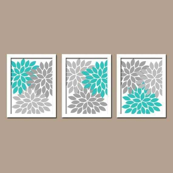 Bathroom Canvas Wall Art Awesome Turquoise Gray Wall Art Bedroom Canvas or