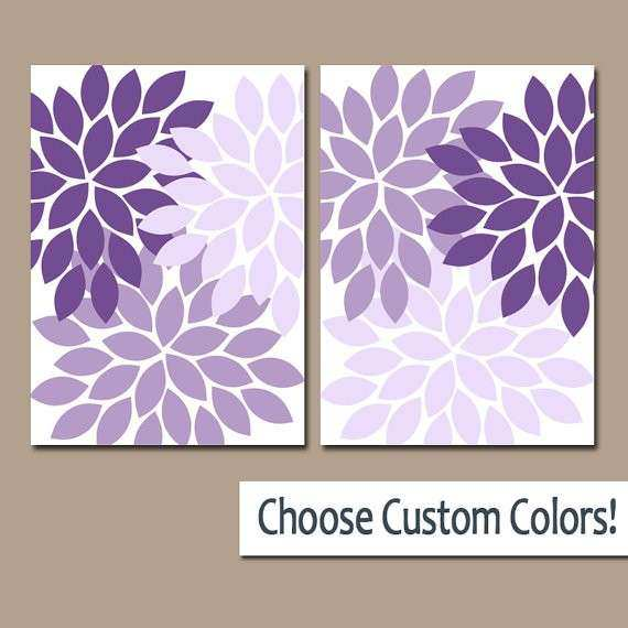 Bathroom Canvas Wall Art Elegant Purple Wall Art Canvas or Prints ...