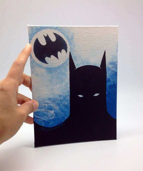 Batman Acrylic painting on canvas panel by