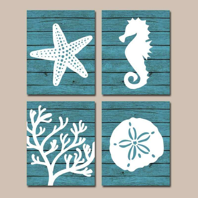 Beach Canvas Wall Art Lovely Beach Bathroom Wall Art Canvas or ...