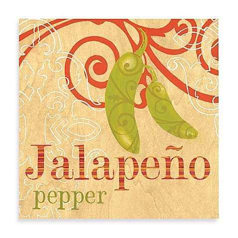Jalapeno Printed Canvas Wall Art Bed Bath & Beyond