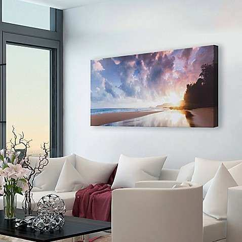 Beach Sunrise Canvas Wall Art Bed Bath & Beyond