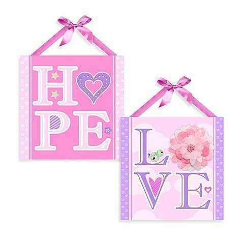 Hope and Love Canvas Wall Art Bed Bath & Beyond