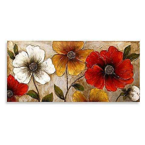 Bright Floral Lacquer Wall Art Bed Bath & Beyond
