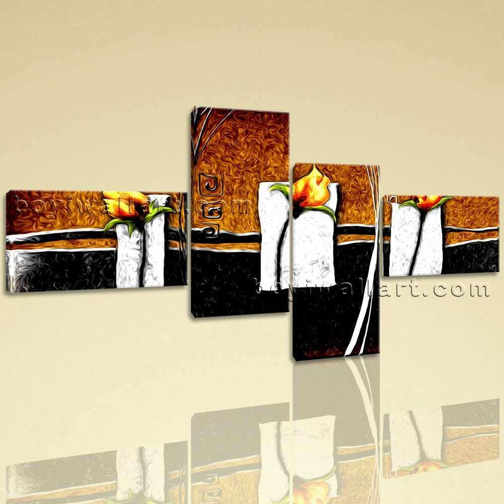 Extra Abstract Flower Floral Modern Wall Art