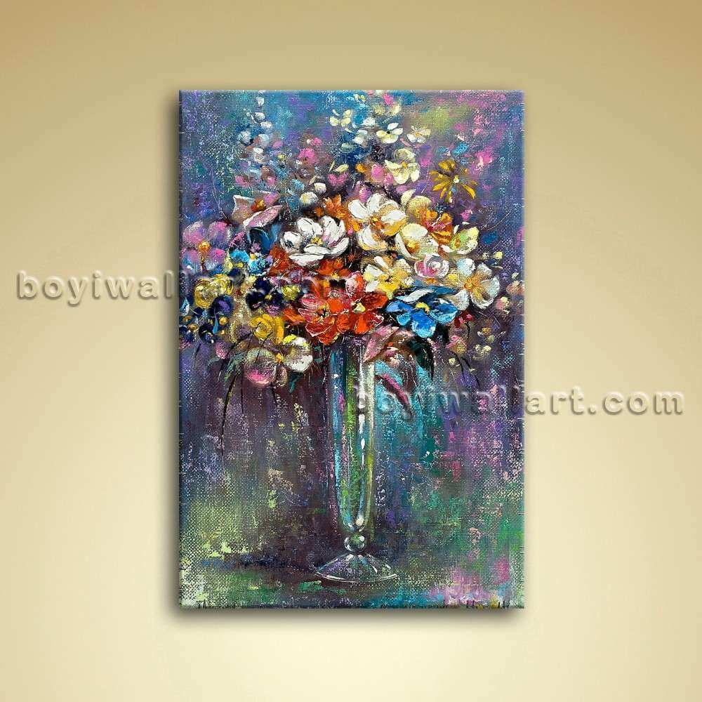 Classical Still Life Bouquet Flower Painting Oil Canvas