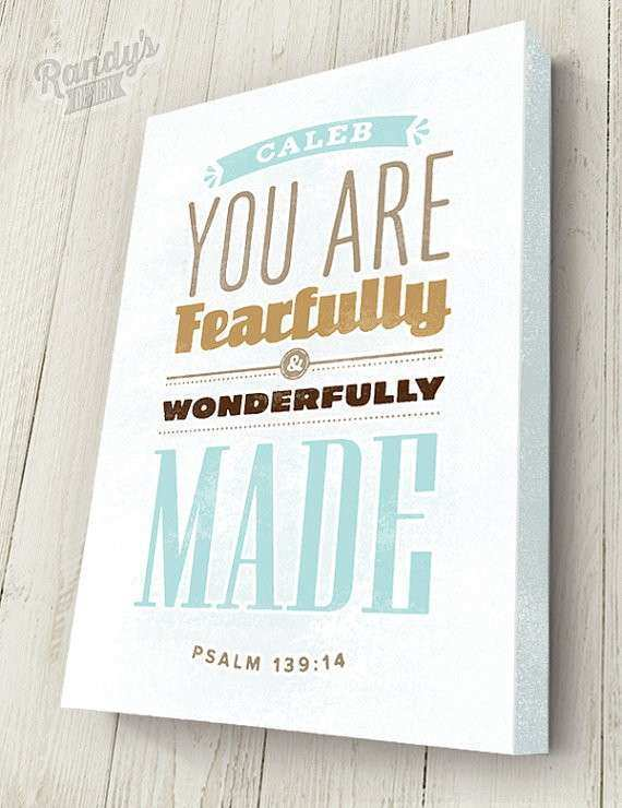 Items similar to Personalized Bible Verse on Canvas Psalm
