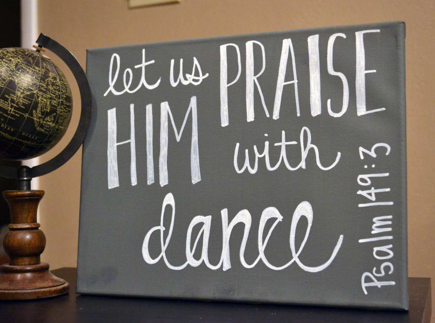 Dance Bible Verse Wall Art Canvas Painting Wall by