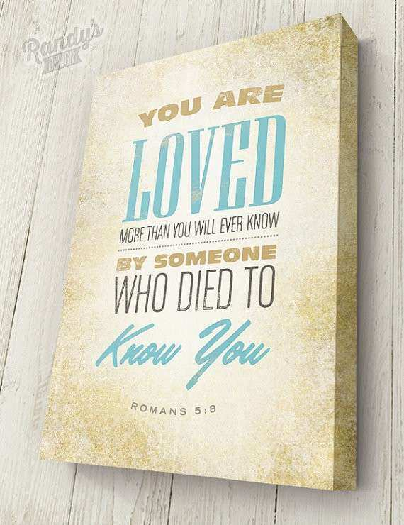 Items similar to Bible Verse on Canvas Typography
