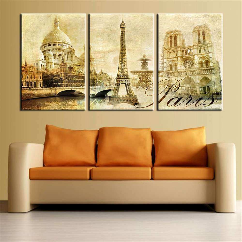 Big Canvas Wall Art Inspirational Wall Art Paris Famous Buildings ...