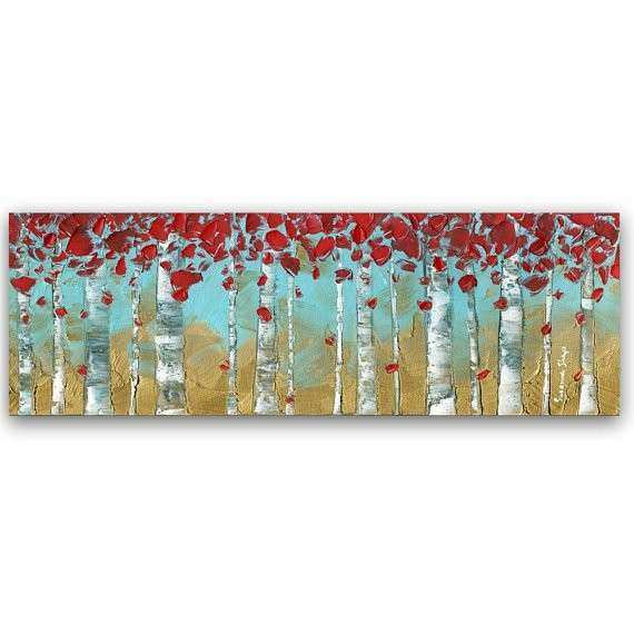Canvas PRINT Abstract Wall Art Modern Birch Tree by
