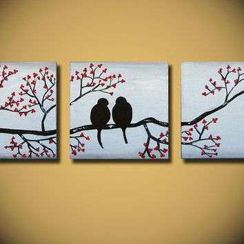 paintings on canvas Abstract love from OritArt on Etsy