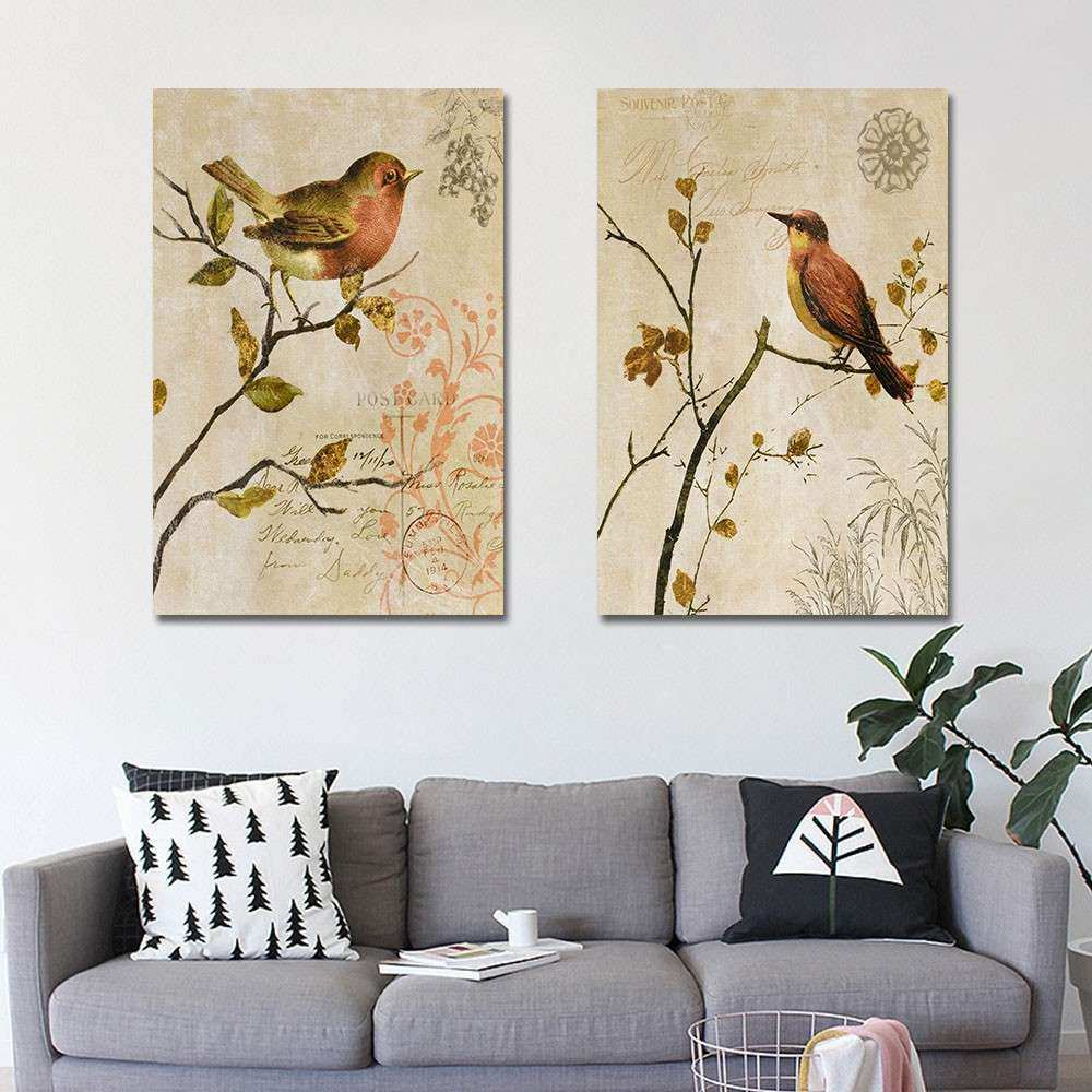 2 Panel Animal Canvas Painting Canvas Art Print Poster