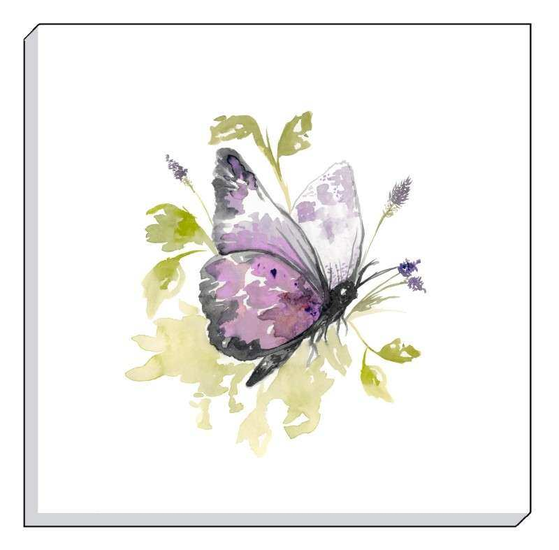 Evans Lichfield 40CM COUNTRY BUTTERFLY CANVAS WALL ART