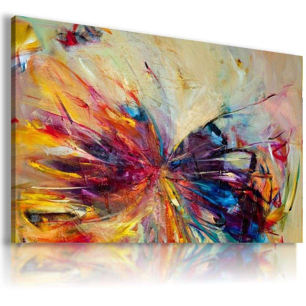 AB167 ABSTRACT BUTTERFLY Canvas Wall Art Abstract Picture