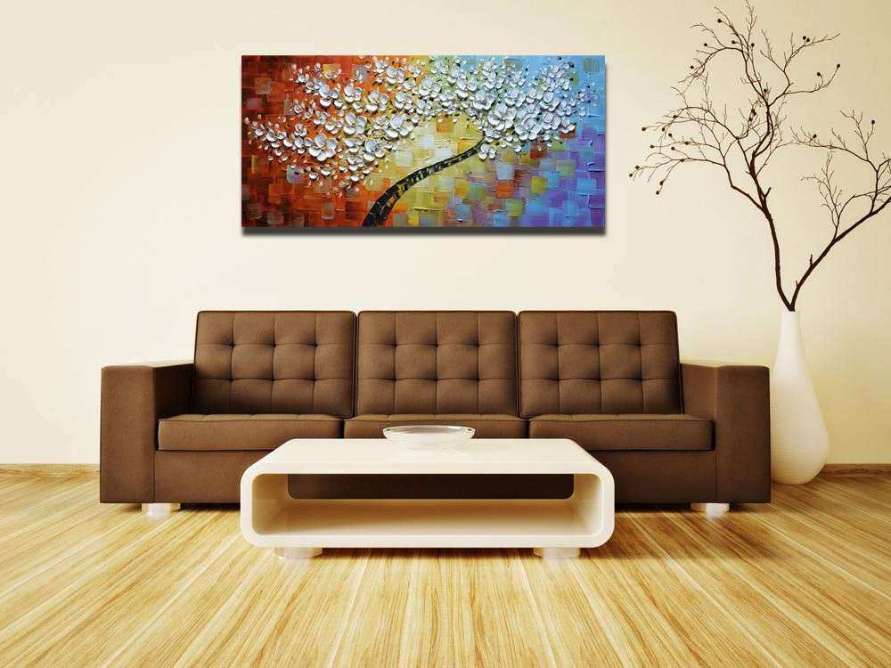 Save Asdam Art White Maple Tree Abstract 3D Oil